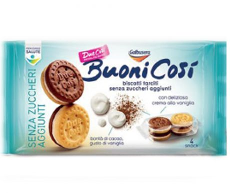 Buoni Cosi – Biscoito recheado com creme de Baunilha Sem Açucar