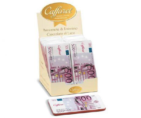 Barra de Chocolate ao Leite Notas Euro