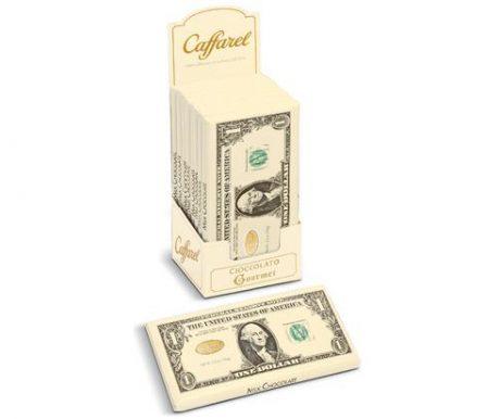 Barra de Chocolate ao Leite Notas Dollar