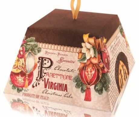 Panettone com gotas de Chocolate e Cobertura